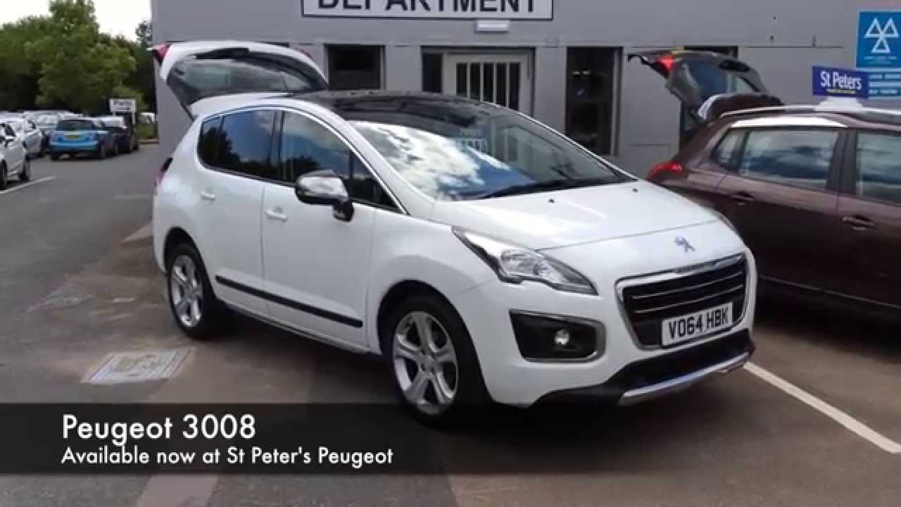 2014 peugeot 3008 crossover 1 6 hdi 115 fap allure vo64 hbk at st peter 39 s peugeot worcester. Black Bedroom Furniture Sets. Home Design Ideas