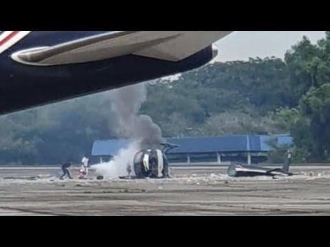 Sebuah helikopter terhempas, lima mangsa selamat