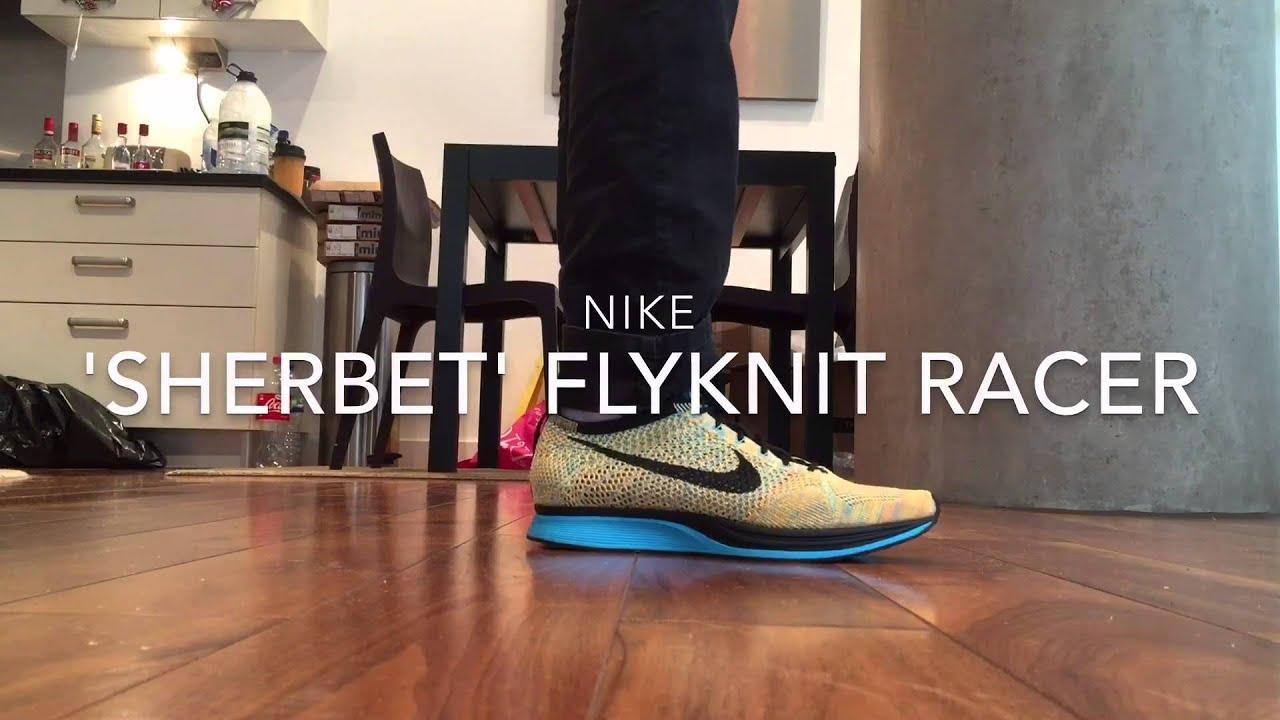 Nike Flyknit Racer 'Sherbet' Colourway Quick ON Feet