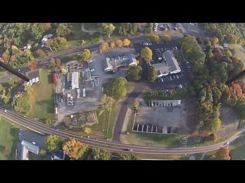 Brookside Garden center Aerial from 400 feet. Tolland CT