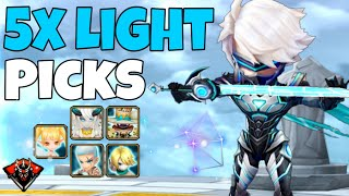 NEW [Season 12] starts with LIGHT Monsters Only! [Rock Music Edition] - Summoners War