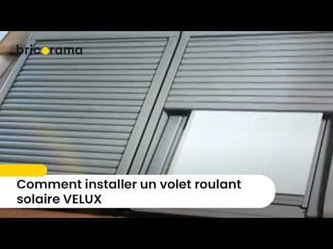 Comment Installer Un Volet Roulant Solaire Velux Bricorama Youtube