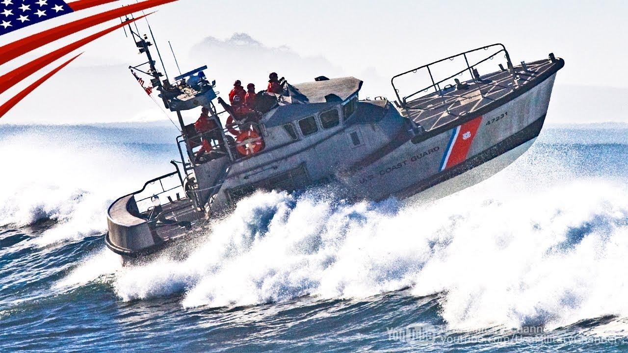 大迫力】ものすごい荒波を突き進む訓練 - アメリカ沿岸警備隊 - YouTube