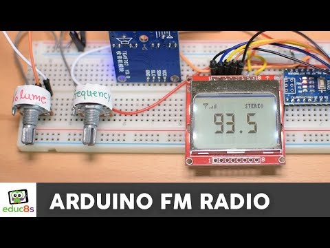 Arduino FM Radio Project With TEA5767 And A Nokia 5110 LCD Display ✅