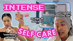 SELF CARE DAY *skincare fridge, teinture de cheveux, spraytan et plus!*