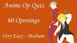 Anime Opening Quiz - 60 Openings (Very Easy - Medium)