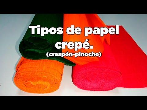 Tipos de papel crepe (crespón o pinocho) (Types of paper crepe Eng. subs.)