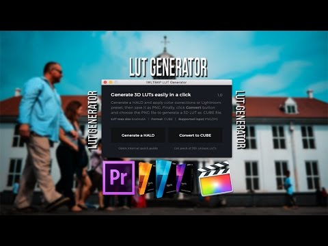 LIGHTROOM TUTORIAL - CONVERT .LRTEMPLATE FILE TO .CUBE FILE