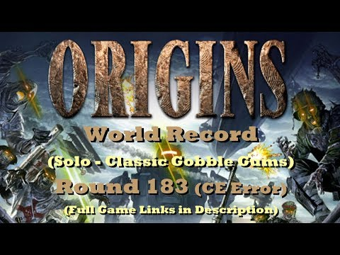 Origins CE Error @183 (Former World Record - Classic Gums)