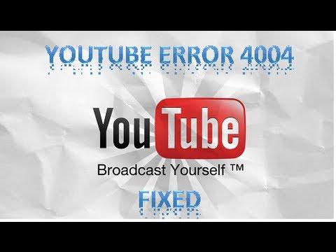 xbox 360 youtube error 4004 FIX