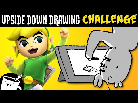 Artists Draw Video Game Characters Upside Down