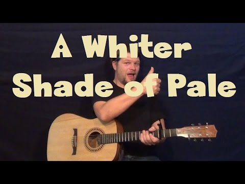 A Whiter Shade Of Pale Procol Harum Fingerstyle Guitar Lesson How