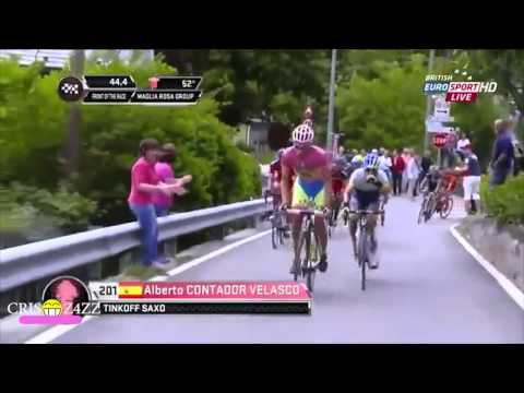 Alberto Contador's Attack best of Giro D'italia 2015