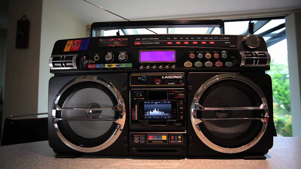 Lasonic i 931x ghetto blaster the ultimate iphone boombox youtube - Ghetto blaster lasonic i931 ...