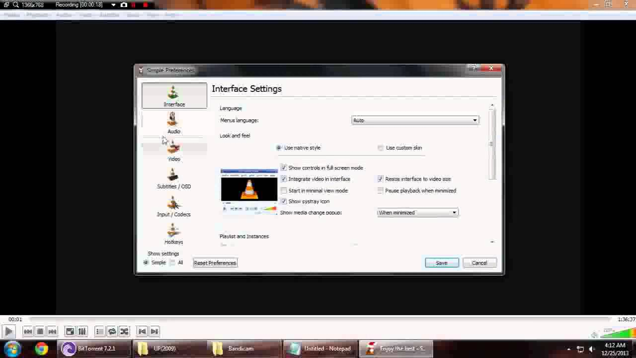 how to make vlc media player default