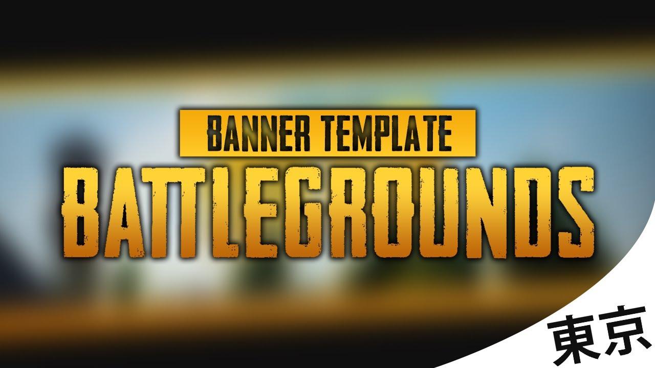 Free Youtube Banner Template Playerunknows Battlegrounds