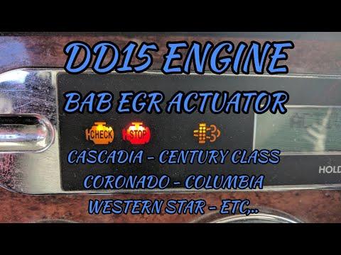 Freightliner Cascadia DD13 DD15 EGR valve actuator failsafe mode problem  spn 2791 fmi 14