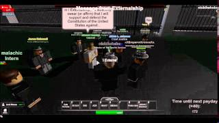 inauguration of Externalship as Vice President of the USA (roblox)