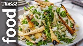 Warm Parsnip & Pear Salad Recipe  #TescoHelpSquad with SORTEDfood