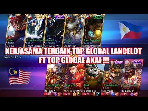 Kerjasama Terbaik Top Global Lancelot FT Top Global Akai !!! MALAYSIA VS PHILIPINA Arena Contest