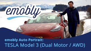 emobly Auto-Portrait: Das Tesla Model 3 (Dual Motor, AWD, ergänzt: Performance)