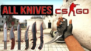 CS GO ALL KNIVES «CounterStrike GO» All Knives + Animations