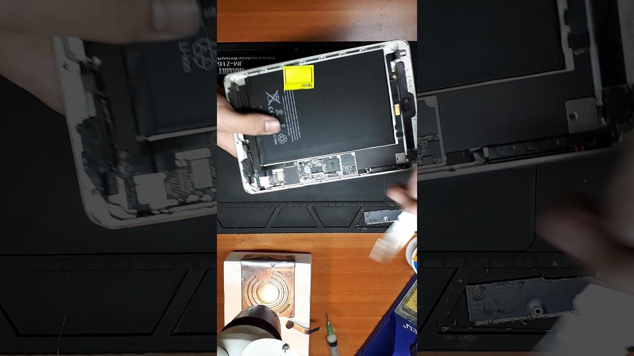 не работает подсветка ipad mini после замены сенсора