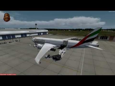 [P3D v3.3] London Stansted (EGSS) - Rio de Janeiro (SBGL) Full Flight | UAE 777F Charter