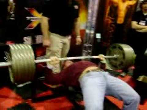 735 Lbs Bench Press For 15 Reps At Arnold Classic 08 Raw