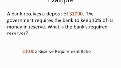 Calculating the Amount of Required Reserves