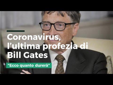 """L'ultima profezia di Bill Gates sul coronavirus: """"Ecco quanto durerà"""""""