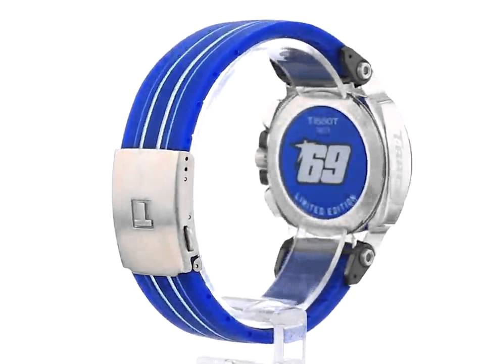 02fd0f4a074 Tissot Men s T0484172704700 Nicky Hayden T Race Limited Edition Analog  Display Swiss Quartz Blue Wat