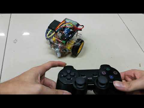 Arduino 2WD 2 Layers Round Chasis PS2 Remote Control Robot Car