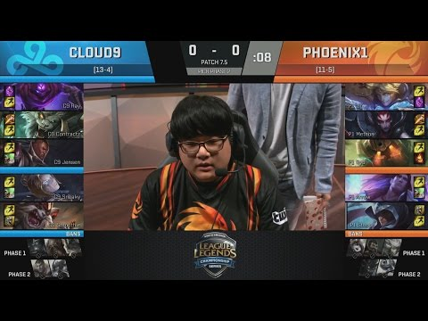 C9 (Sneaky Lucian) VS P1 (Meteos Elise) Game 1 Highlights - 2017 NA LCS Spring W9D2