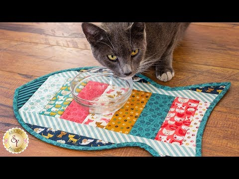 How to Make a Quilt As You Go Cat Placemat  A Shab Fabrics Sewing Tutorial