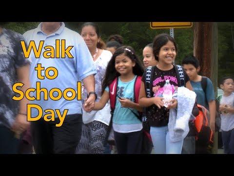 Walk to School Day at Mount Vernon Woods Elementary School