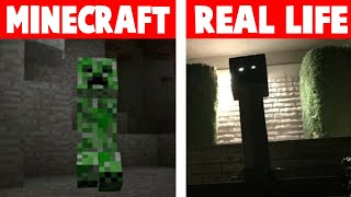 Minecraft vs Real Life (Minecraft In Het Echt)