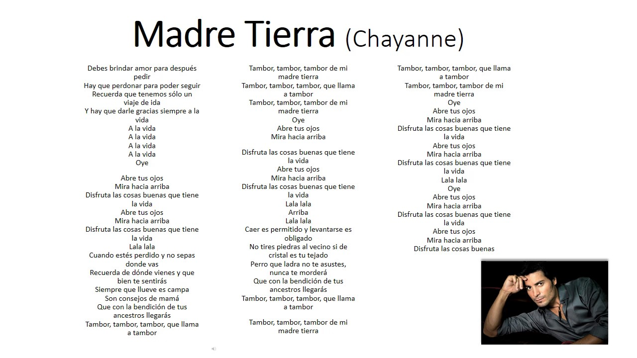 Madre Tierra Chayanne Youtube
