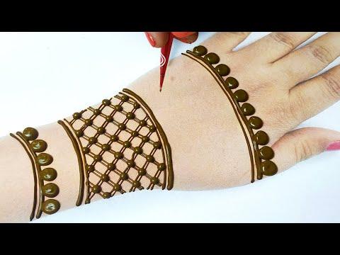 डॉट्स से आसान मेहँदी डिज़ाइन लगाना सीखे  - Full Hand Mehndi Design from Mehndi Dots