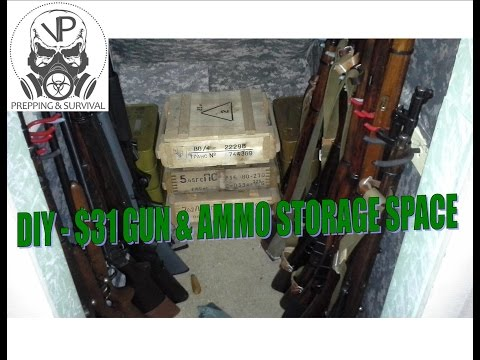 DIY - How I turned my attic closet into a gun & ammo storage space for $31!!!