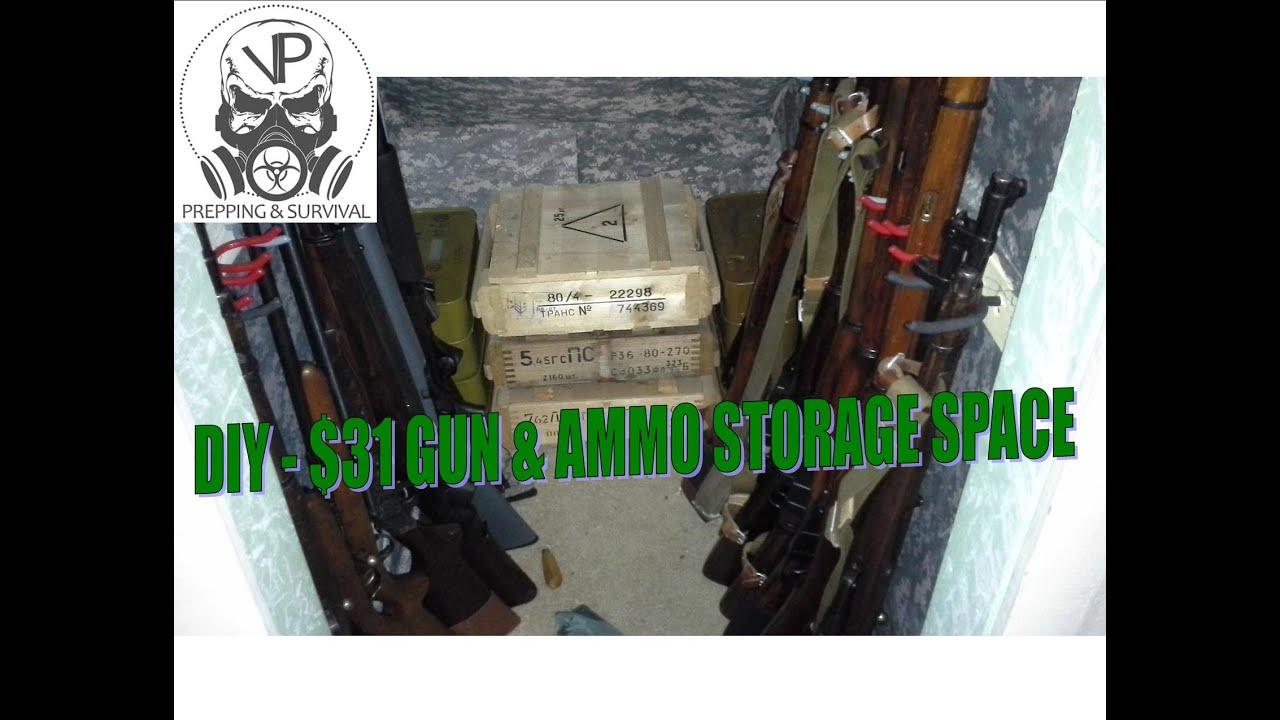 Diy How I Turned My Attic Closet Into A Gun Ammo Storage E For 31