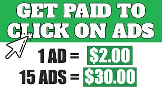 Get Paid To Click Ads $2.00 Per Click Make Money Online (FREE)  | Worldwide 2020