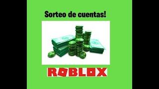 Sorteo de cuentas de roblox! :D