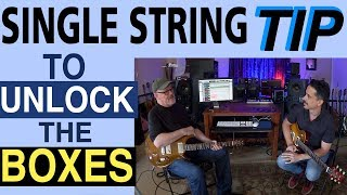 Fretboard Mastery | Single String Tip | Guitar Lesson | Pentatonic Box | Corey Congilio | Tim Pierce
