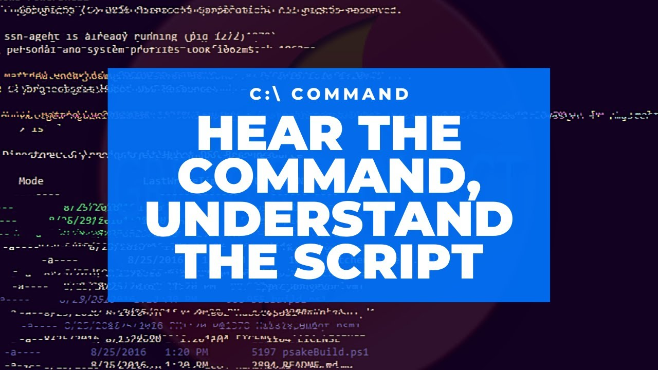 Hear the Command, Understand the Script - Series: Command - Apostle Mike Klump