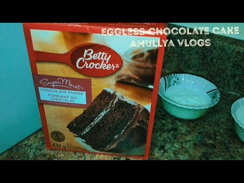 Egg-less Chocolate Cake For Starters ( Using Cake Mix (Betty Crocker-Chocolate Fudge))