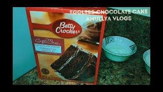 Egg-less Chocolate Cake For Starters ( Using Cake Mix (Betty Crocker-Chocolate Fudge))