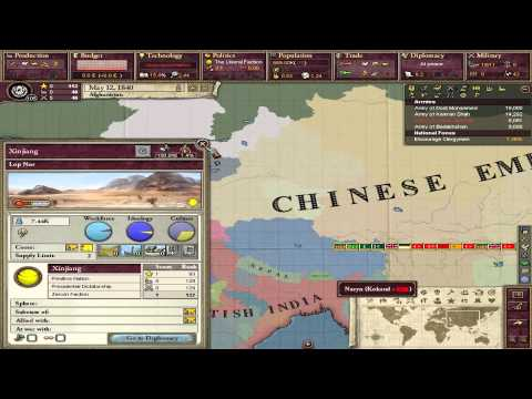 Lets Play Victoria 2 A House Divided Ep 1: Afghanistan startout
