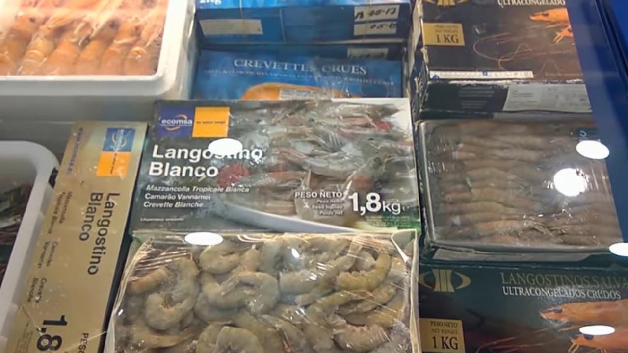 Магазины на Тенерифе. Дешевый магазин морепродуктов и полуфабрикатов 5 океанов Тенерифе  Испания