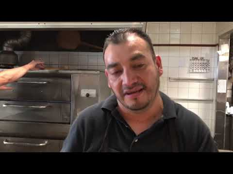 Tour of Brooklyn's Pizza D'Amore. How to make real Brooklyn Pizza and Chicken Rolls.